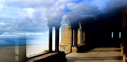 Le cloître du Mont Saint Michel