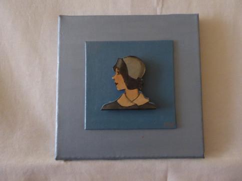 Chapeau Cloche Bleu-Gris