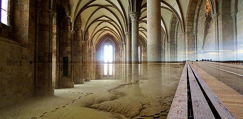 Pas dans la nef - Le Mont Saint Michel