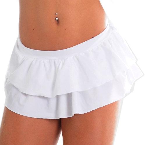 Mini skirt double frill