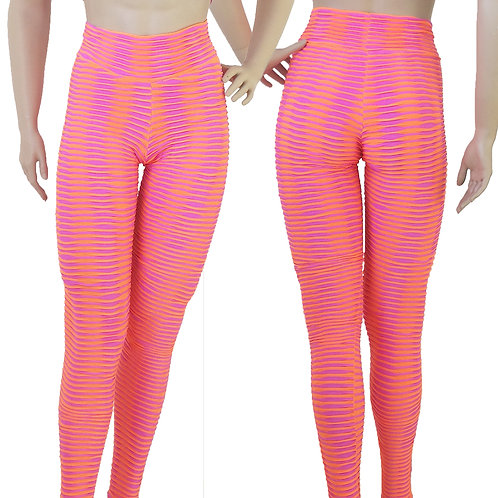 Gym Pants Pink/Orange High Waist