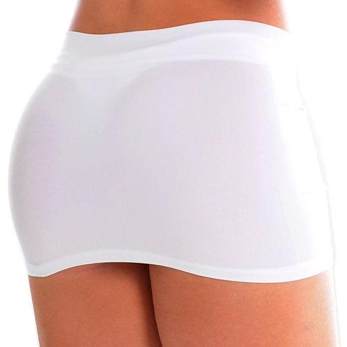Mini skirt with waistband