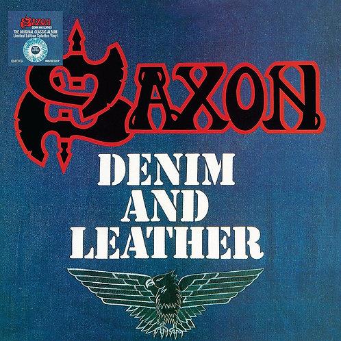 SAXON - DENIM AND LEATHER (COLOURED VINYL)