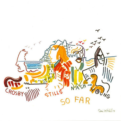CROSBY STILLS NASH & YOUNG - SO FAR (COLOURED VINYL)