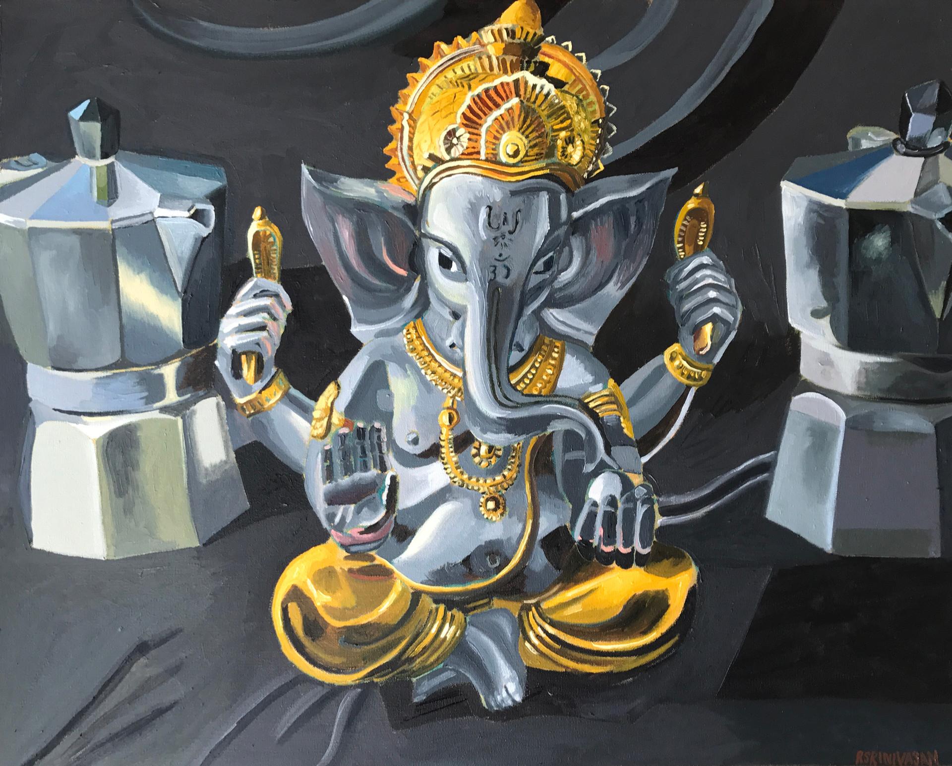 Ganesha Enthroned