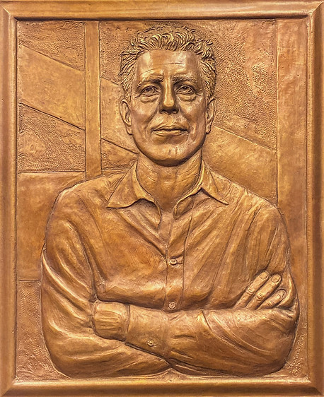 Anthony Bourdain bas-relief