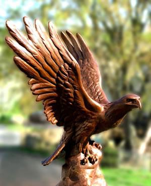 Eagle bronze life size