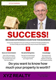 real estate salesperson Full page Promotion inside Whanganui Mansions real estate magazine