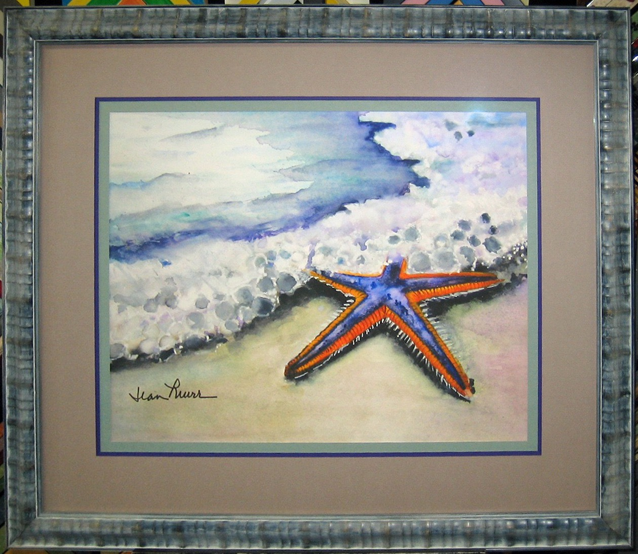 Starfish watercolor by Jean Murr