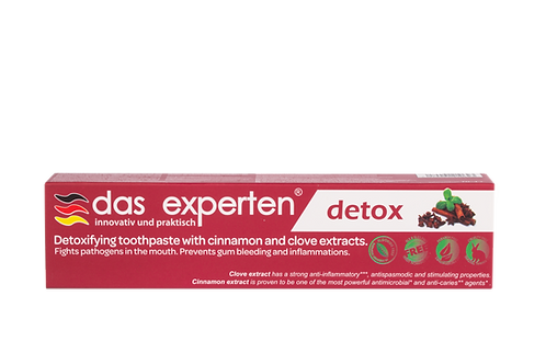 DETOX - ORGANIC TOOTHPASTE WITH STRONG ANTI-INFLAMMATORY PROPERTIES