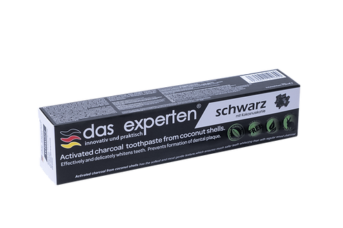 SCHWARZ - NATURAL WHITENING TOOTHPASTE WITH ACTIVATED COCONUT CHARCOAL
