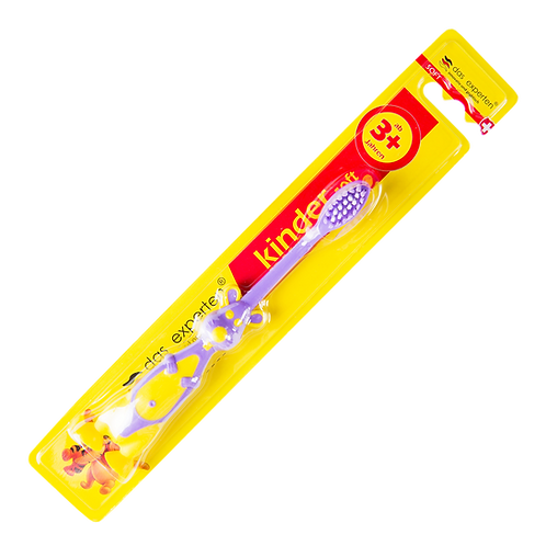 KINDER 3+ SOFT TOOTHBRUSH FOR CHILDREN OVER 3 YEARS WITH HOLDER
