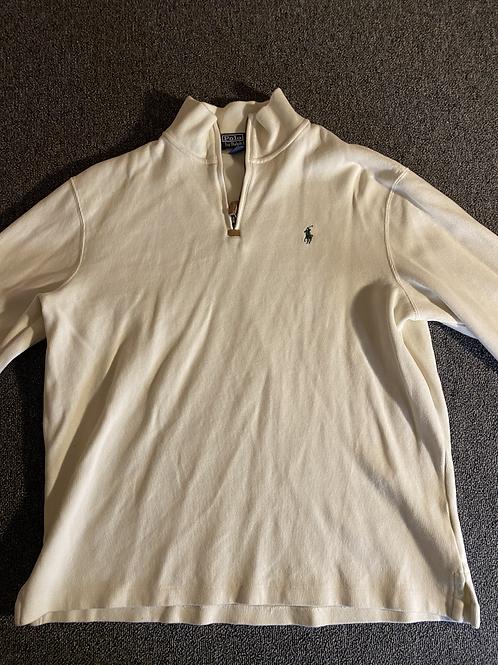 Ralph Lauren Polo Men's Jersey Half-Zip Pullover XL Cream