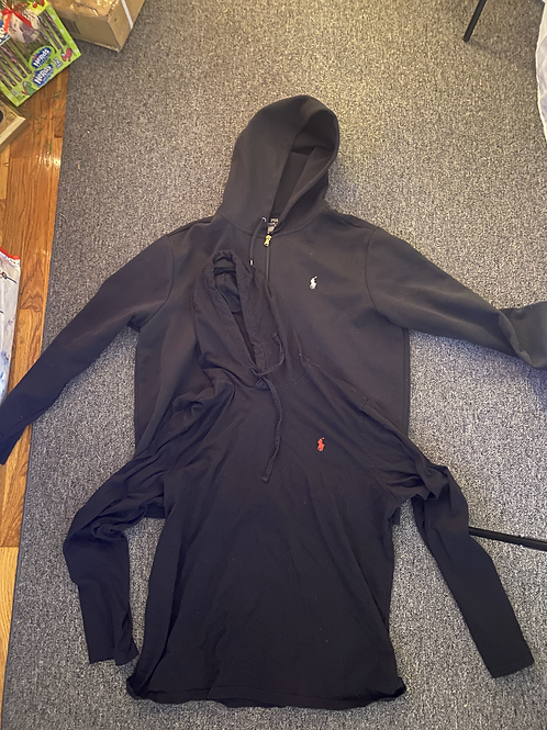 Polo Full Zip Performance Hoodie + Thin Polo Pullover