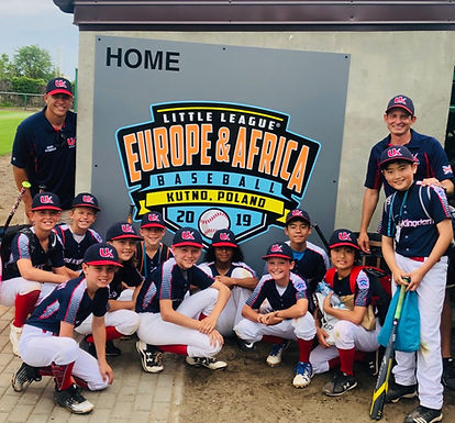 Team UK finishes 3rd at the 2019 Europe-Africa Little League Regional