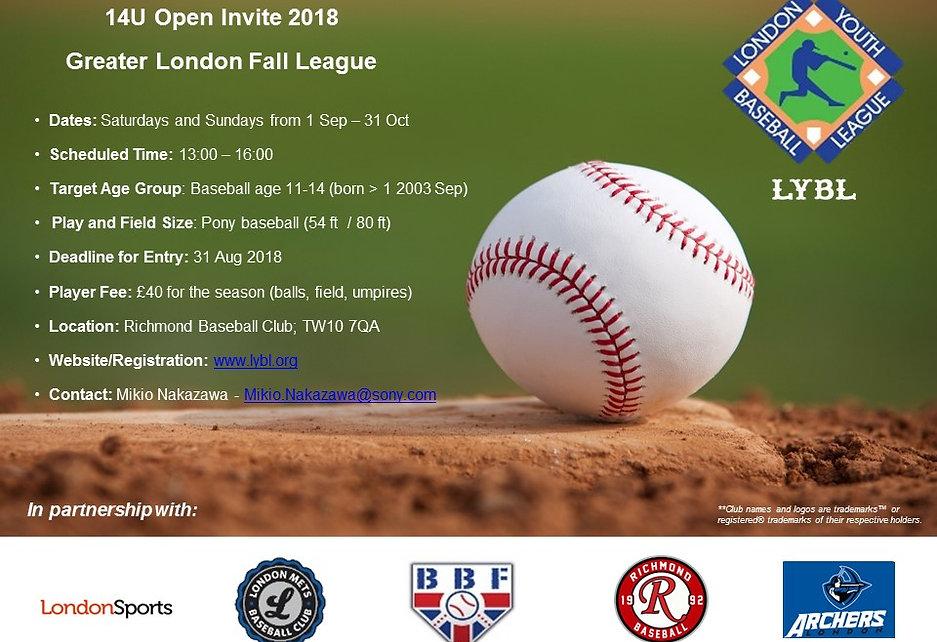 London Baseball - 14U Open Fall League 2
