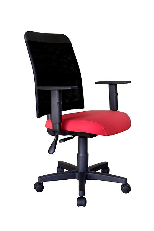 Cadeira Vermelha e Preta de Rodas