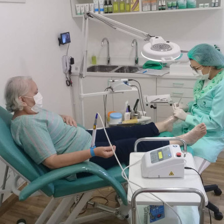 Atendimento na clinica