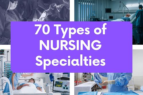 70 Different Type of Nursing Specialities List Download