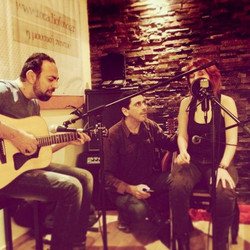 Performing with Maria Papageorgiou