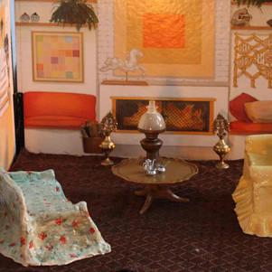 2 x porcelain sofas and original furniture.