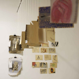 Postal drawing project exchange with Sarah Tutt, Primary Studios, Nottingham.
