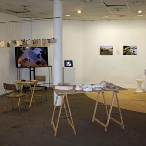Installation in PS2, Belfast. Collaborative work between Primary Studio artists and Belfast based artists.