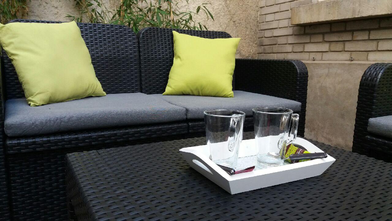Pause détente dans le patio