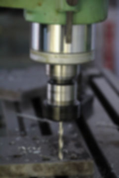 Milling machine in work