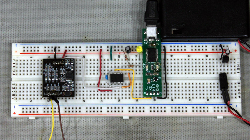 ECG Front End Serial Demo Prototype Circuit