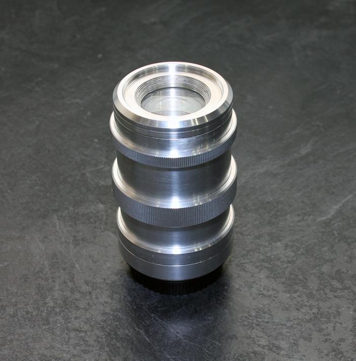 Custom designed 117 mm F/4.5 assembled standing