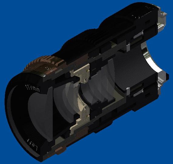 Designed from scratch 117 mm F/4.5 camera lens