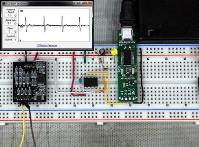 ECG Front End Serial Demo w/UART