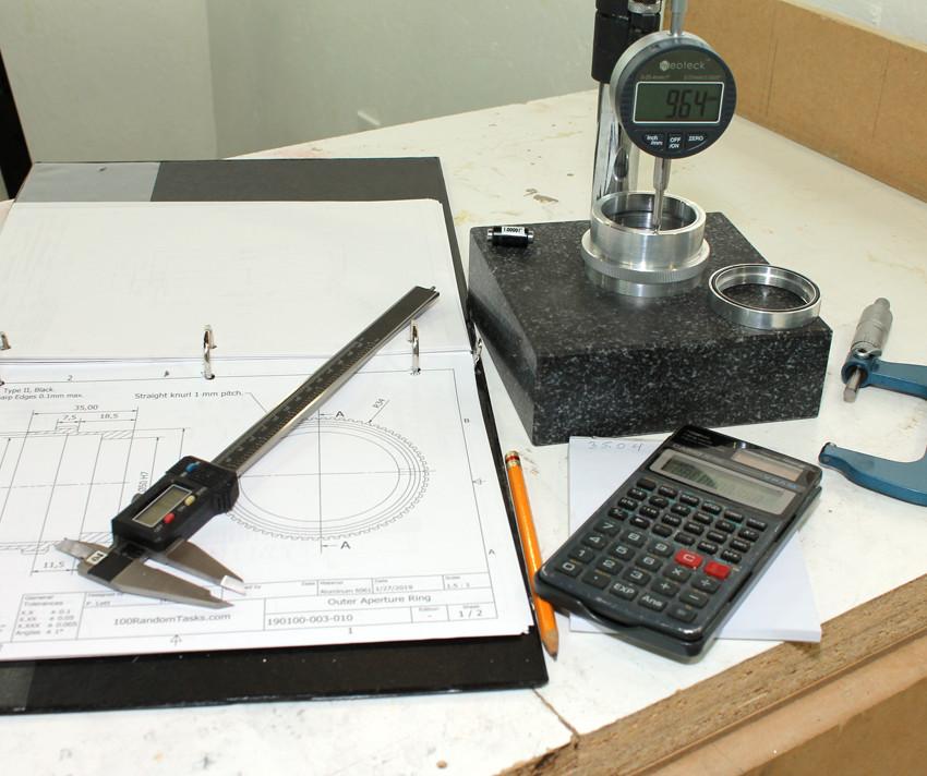 Custom designed 117 mm F/4.5 part measurement