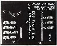 ECG Front End PCB Bottom