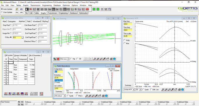 WinLens 3D Basic Optical Design Software