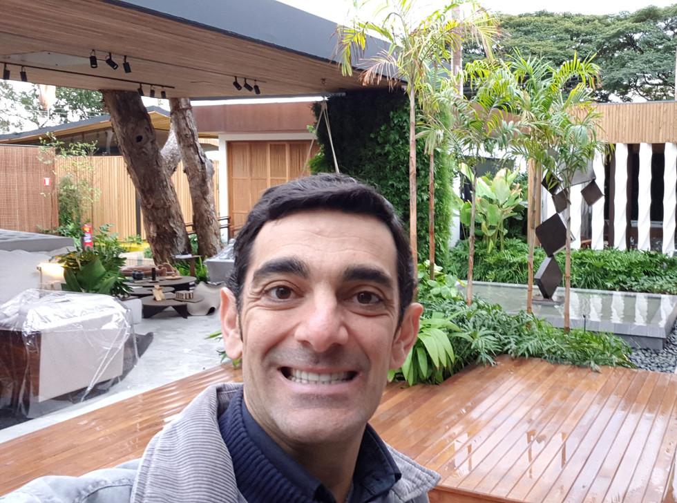 Marcelo Tamassia na montagem da Casa Cor RP 2019