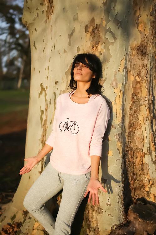 Top lyocell & coton, imprimé vélo