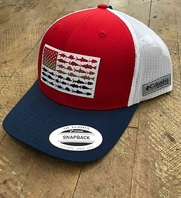 Columbia PFG Mesh Snapback Fish Flag Ball Cap