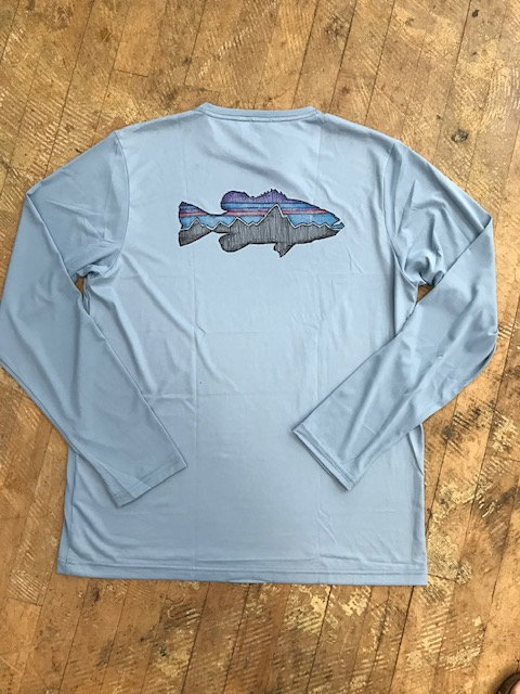 M's Patagonia Long Sleeved Capilene Daily Fish Graphic Shirt