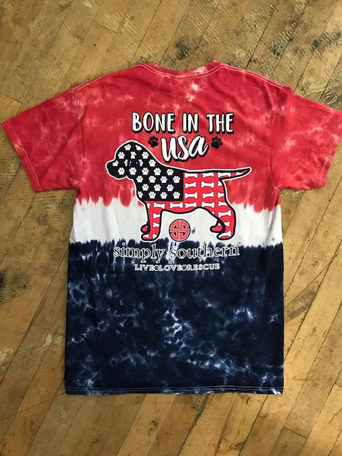 """Simply Southern """"Bone In The USA"""" T-Shirt"""