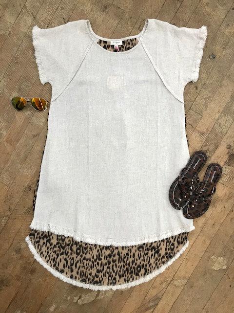 Cheetah Back Dress