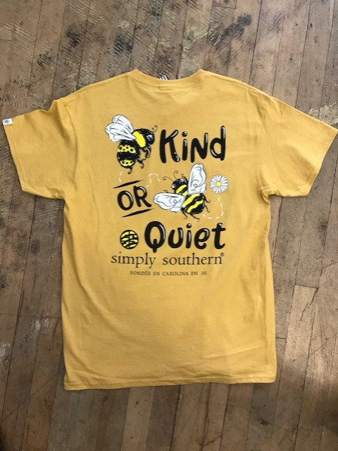 """Simply Southern """"Bee Kind Or Bee Quiet"""" T-Shirt"""