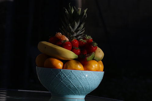 Fruits on black