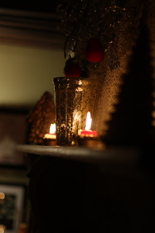Candle and chimney