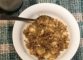 Hot Quinoa Cereal with Pear & Fig