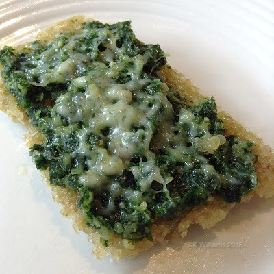 Cheese Pesto Pizza on Quinoa Crust