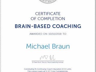 Mike gets his Coaching Certificate!