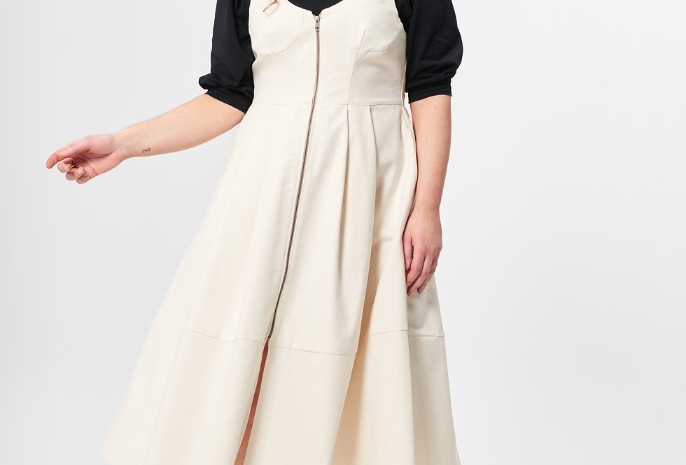 POWERFUL DRESS UNDYED