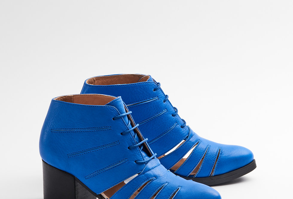 CUT OUT BRIGHT BLUE
